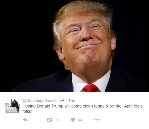 Donald Trump April Fools